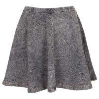 Grey Denim Look Skater Skirt - Skirts - Clothing - Topshop