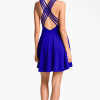 Lush Crossback Skater Dress (Juniors) | Nordstrom