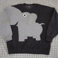 Fun Elephant Trunk sleeve sweatshirt MENS S by CreativeCallipipper