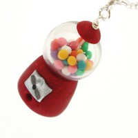 Gumball machine necklace by inediblejewelry on Etsy