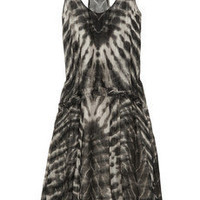 Raquel Allegra|Tie-dye silk-georgette dress|NET-A-PORTER.COM