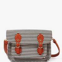 Striped Buckled Crossbody