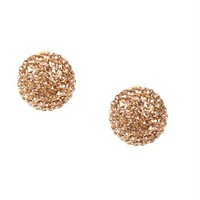 Rose Gold Dome Rhinestone Earrings