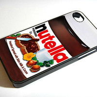 Nutella iphone 4 case, iphone case,  iphone 4s case, iphone 4s, iphone 4 cover, iphone hard case,  iphone 4, iphone