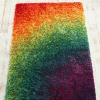Rainbow Shag Rug