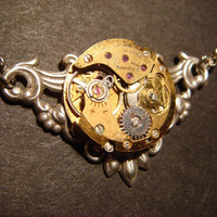 Steampunk Neo Victorian Vintage Bronze Watch by CreepyCreationz