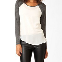 Sheer Raglan Sleeve Top
