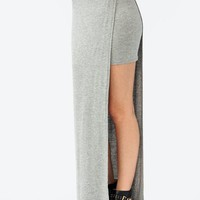 single-slit-maxi-skirt BLACK IVORY LTGREY - GoJane.com