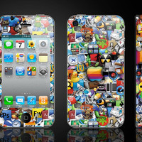 Apple - - iphon 5 skins iphoen decal iphone 4 decal iphone 5 decal iphone 5 sticker iphone 4s stickers
