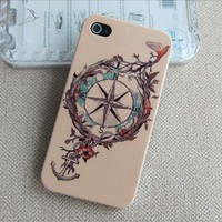 pink Tribal Hybrid Hard  anchor Impact Case for iphone 4/4s