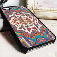 Leather totem Tribal Hybrid Impact Case for iphone5