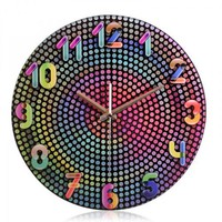 Creative Pavonine Wave Point Wall Clock