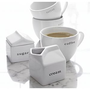 Embossed Cream and Sugar in Coffee, Tea Accessories | Crate and Barrel