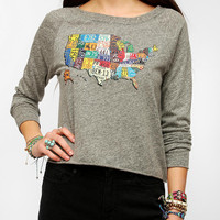 Urban Outfitters - LIFE USA Map Long-Sleeved Tee