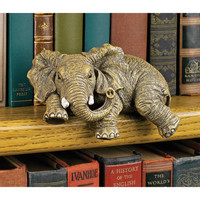 """Ernie the Elephant"" Shelf Sitter Sculpture - EU33738                       - Design Toscano"