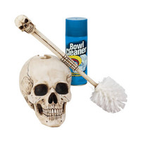 Bathroom Skullduggery Toilet Bowl Brush - CL54941                       - Design Toscano