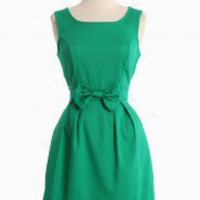 Stella Luna Bow Dress In Green | Modern Vintage New Arrivals