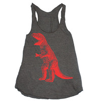 Womens T REX DINOSAUR american apparel TriBlend by happyfamily