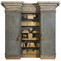 French Biblioteque Bookcase and Two Cabinets