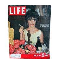 Vintage Life Magazine Elizabeth Taylor Oscar Win - April 20, 1961 - Complete Issue