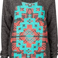FULL TILT Navajo Screen Womens Sweatshirt: Clothing