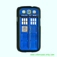 Samsung Galaxy S3 case -- Doctor Who Tardis, Samsung galaxy S3 case in plastic hard ,color in black or white or clear