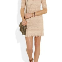 Maje|Amant crocheted cotton mini dress|NET-A-PORTER.COM