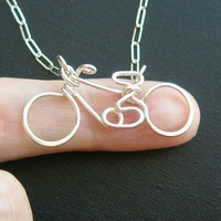bicycle necklace - sterling silver