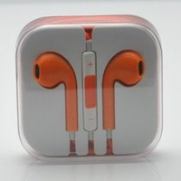 Amazon.com: RainbowMOBO Stereo Earpods Earbuds Earphones Headphone Headset with Mic and Remote for Apple iPad3/2/1 iPhone 5 / 4S / 4G / 3GS / 3G Ipod Touch 5 Ipod 5th Ipod Nano 7 ORANGE: Cell Phones & Accessories