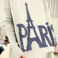 Tower Long Loose Round Neck Sweater