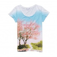 bossini Online Shop - Shop Ladies - T-Shirts (Short Sleeves) - Sakura Print T-Shirt
