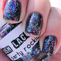 Party Rockin :  Custom-Blended Glitter Nail Polish / Lacquer