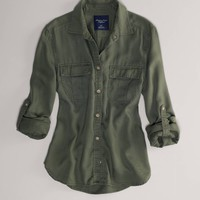 's Girlfriend Shirt (Olive)