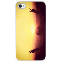 iPhone 4 /4S case Peace Out peace yellow by SkyeZPhotography