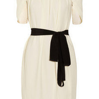 Vionnet | Belted pleated crepe dress | NET-A-PORTER.COM