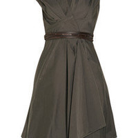 KAUFMANFRANCO | Asymmetric cotton-blend sateen wrap dress | NET-A-PORTER.COM