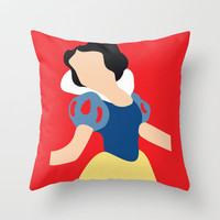 Snow White Throw Pillow by Adrian Mentus | Society6
