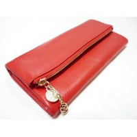 Amazon.com: Genuine Leather Womens Wallet - Credit Card Slots, Coin Pouch, Bills, Cell Phone Purse for Women - Red: Everything Else