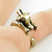 Gold Giraffe Wrap Ring - SIZE 6