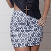 Wallpaper White Skirt - Black Milk Clothing