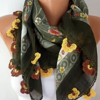 Turkish Anatolians Scarf   Oya  Yemeni  Cowl  Headband by fatwoman/92863826/