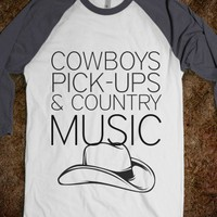 COWBOYS PICK UPS AND COUNTRY MUCIC - shirts