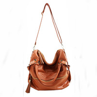 New Tassel Leather Handbag Cross Body Shoulder Bag &amp;handbag