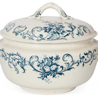 One Kings Lane - This Week's Vintage Mix - Antique Russian Porcelain Tureen