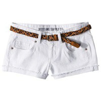 Mossimo Supply Co. Juniors Belted Denim Short - White