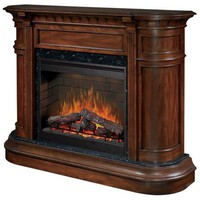 Dimplex Carlyle Walnut Electric Fireplace - #R1613 | LampsPlus.com