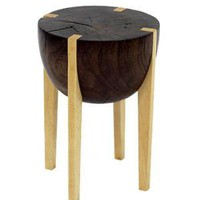 """Walnut & Maple RD Stool"""