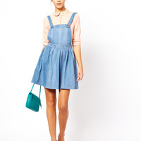 Dahlia Denim Pinafore Dress