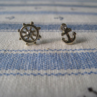 Mini Nautical Earrings by Bitsofbling on Etsy