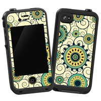 "Swirls Yellow ""Protective Decal Skin"" for LifeProof 4/4S Case"